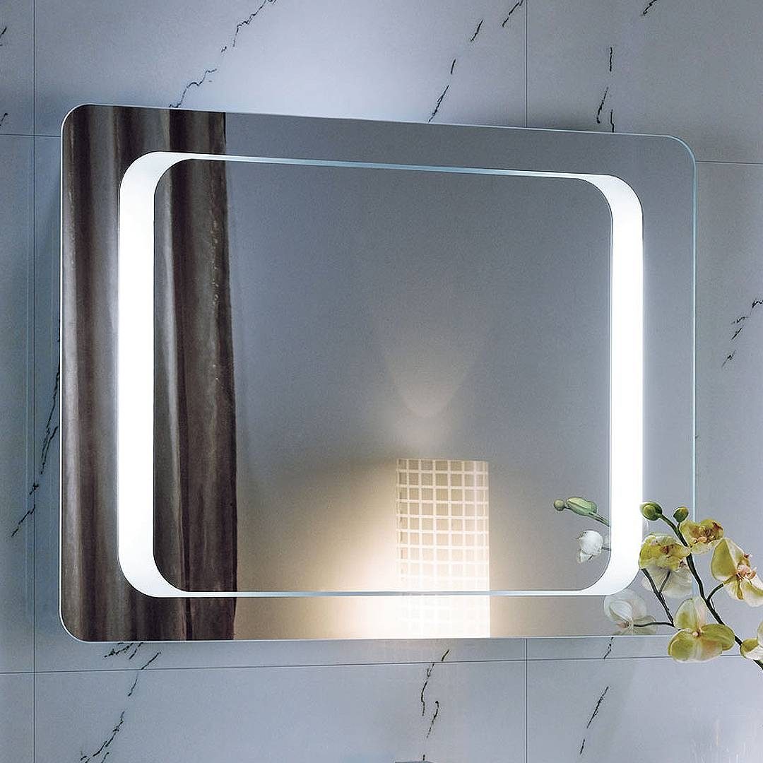 Bathroom Cabinets : Backlit Bathroom Mirrors Usa Creative for Large Illuminated Mirrors (Image 2 of 15)