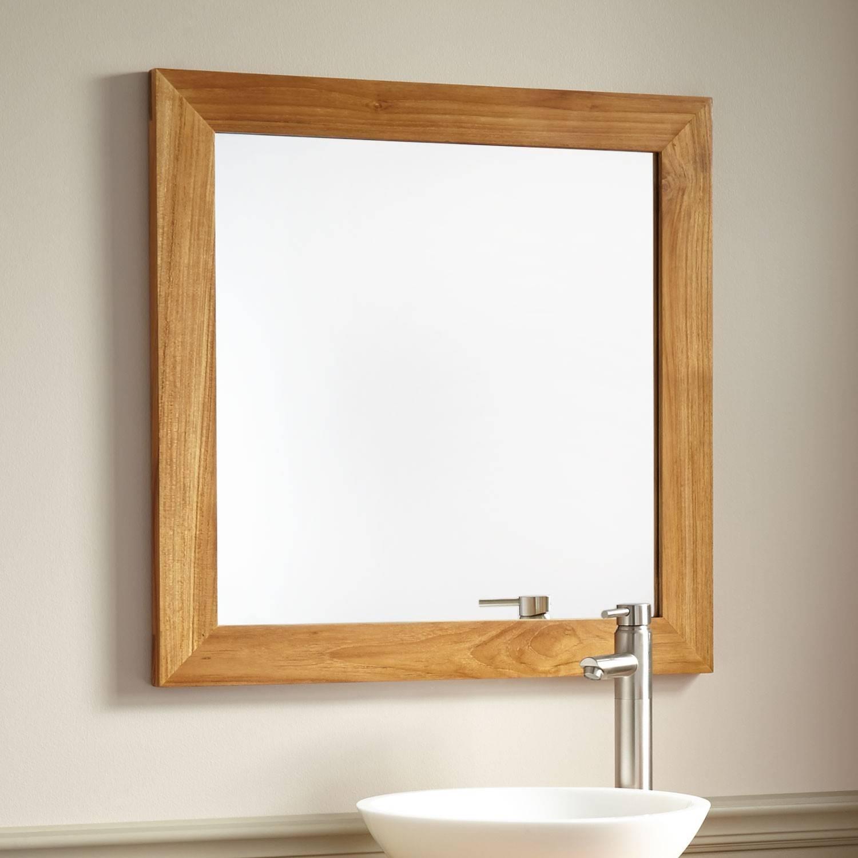 Bathroom Cabinets : Bathroom Mirror Cabinet Oak Framed Mirrors throughout Oak Wall Mirrors (Image 2 of 15)
