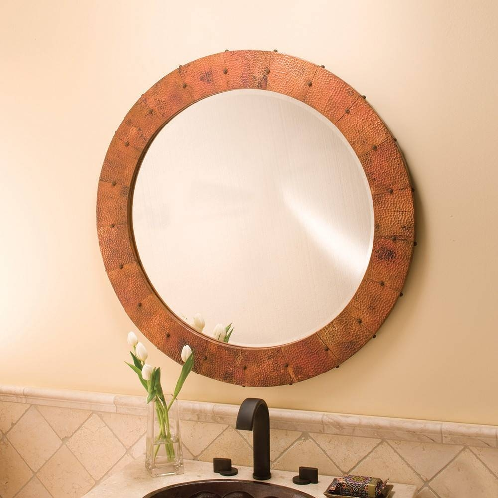 Bathroom Cabinets : Copper Mirror Funky Bathroom Mirrors Bath in Funky Round Mirrors (Image 1 of 15)