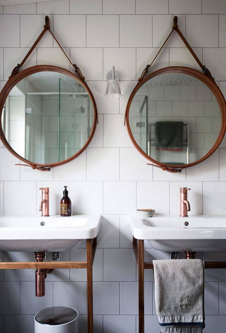 Bathroom Cabinets : Hanging Wall Mirrors Bathroom Hanging Mirrors for Funky Round Mirrors (Image 2 of 15)