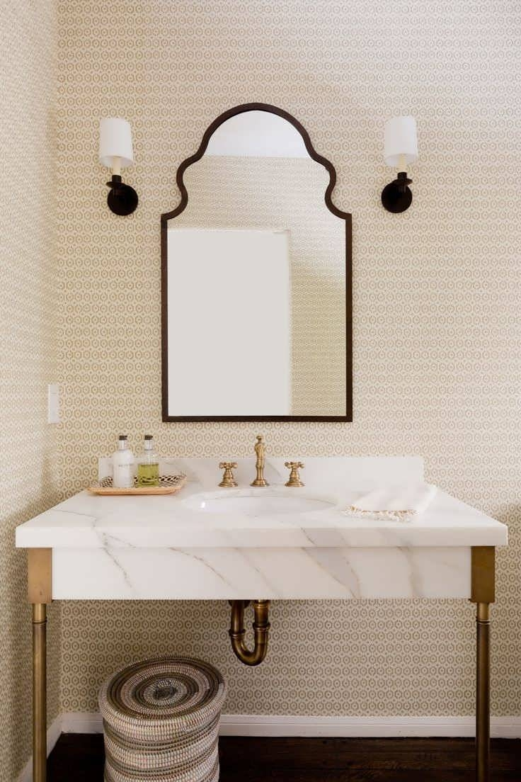 Bathroom Cabinets : Large French Mirror Large Vintage Mirror Within Vintage Mirrors For Bathrooms (View 9 of 15)