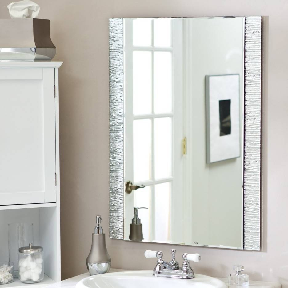 Bathroom Cabinets : Long Silver Mirror Large Decorative Mirrors within Long Silver Wall Mirrors (Image 2 of 15)