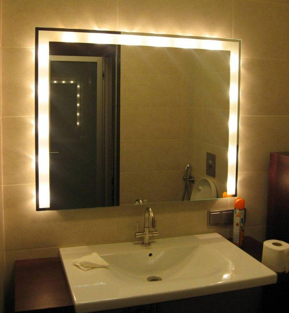 Bathroom Cabinets : Marvellous Bathroom Ceiling Light Fixtures And For Ceiling Light Mirrors (View 2 of 15)