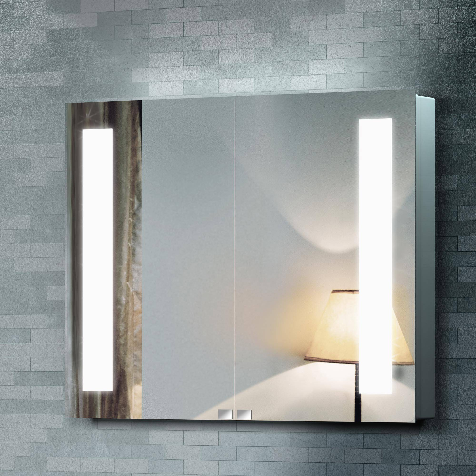 Bathroom Cabinets : Mirrored Vanity Bathroom Illuminated Mirrors with Large Illuminated Mirrors (Image 10 of 15)