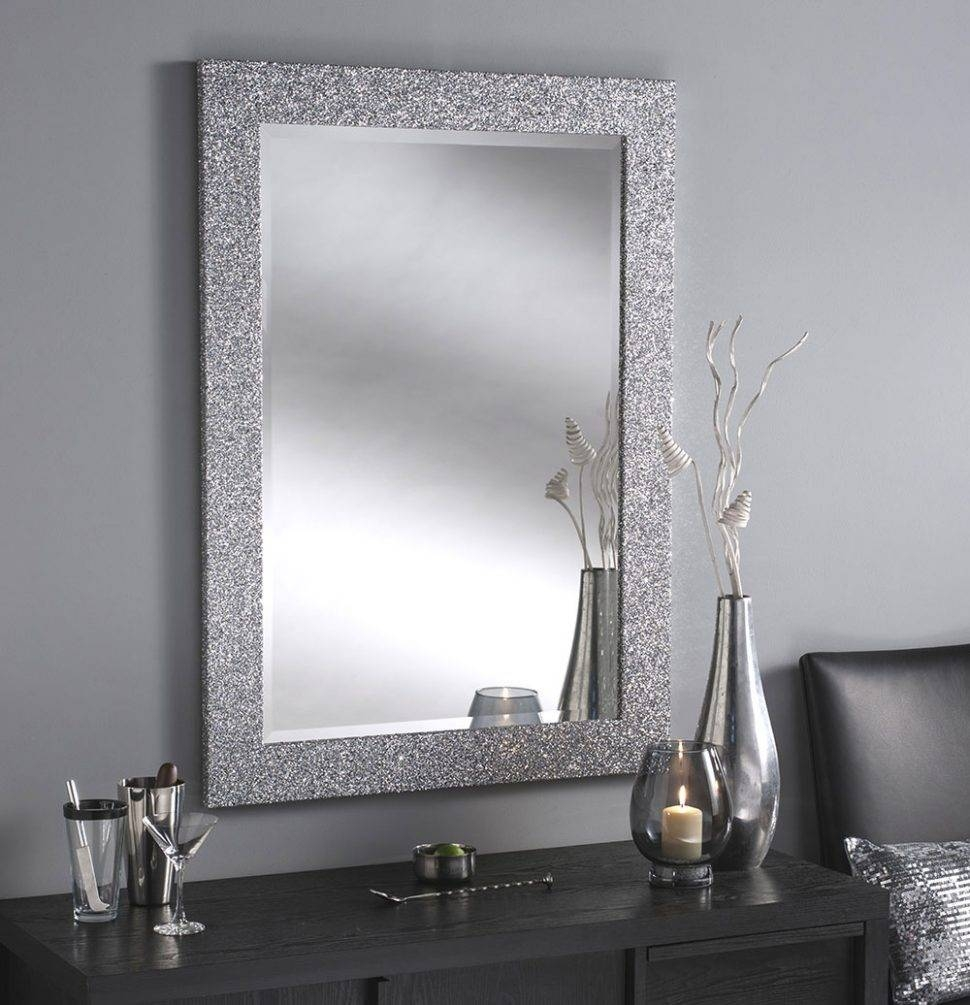 Bathroom Cabinets : Silver Framed Bathroom Mirror Antique Silver Inside Rectangular Silver Mirrors (View 4 of 15)