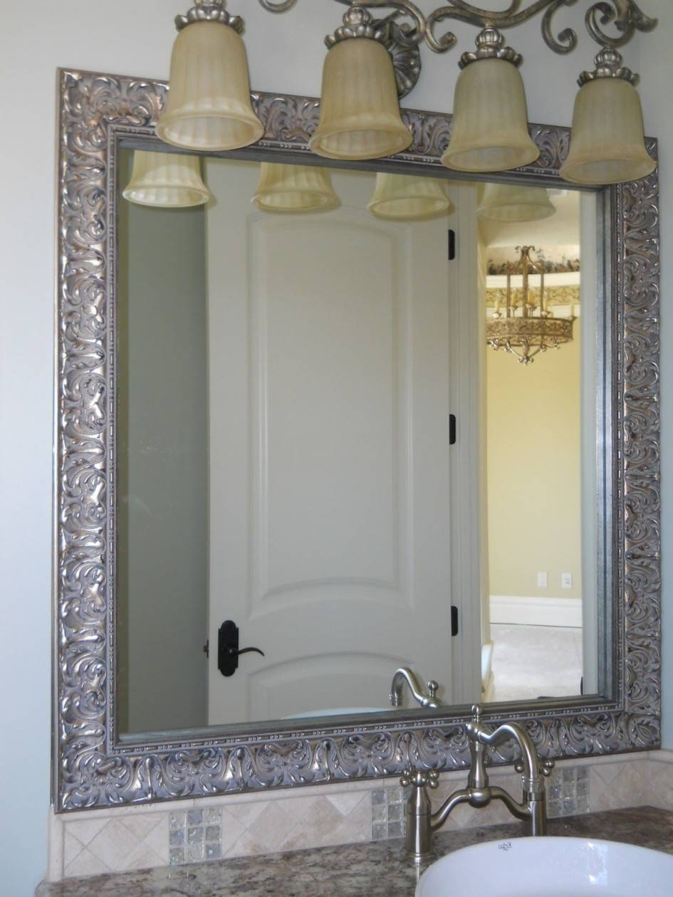 Bathroom Cabinets : Silver Wall Mirror Small Mirror Long Mirror regarding Long Silver Wall Mirrors (Image 4 of 15)