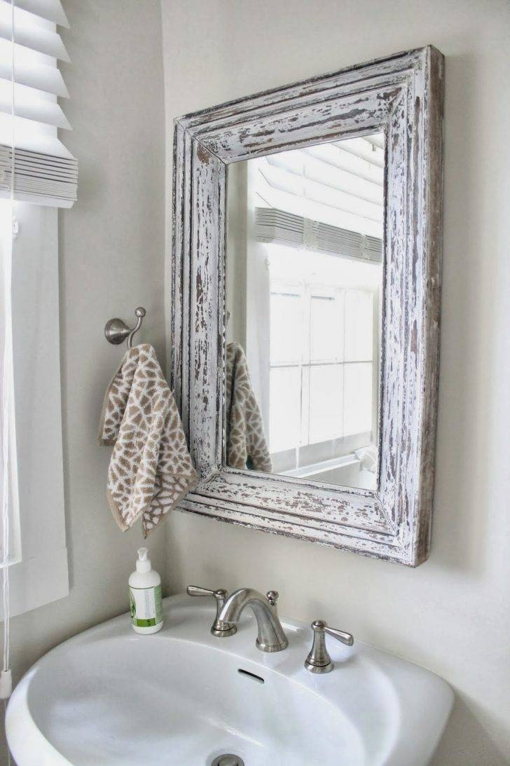 Bathroom Cabinets : Vintage Wood Framed Bathroom Wall Mirrors How In Vintage Mirrors For Bathrooms (View 2 of 15)