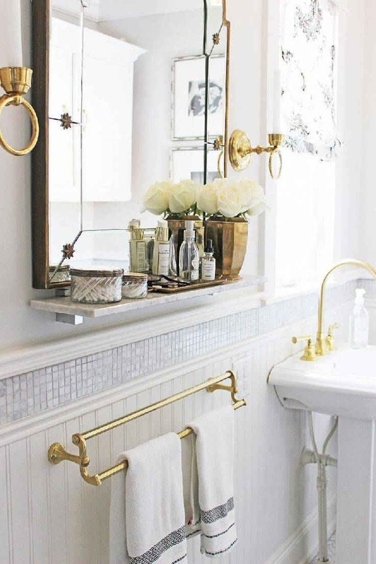Bathroom Cabinets : White Marble Bathrooms Brass Vintage Style Pertaining To Vintage Mirrors For Bathrooms (View 15 of 15)