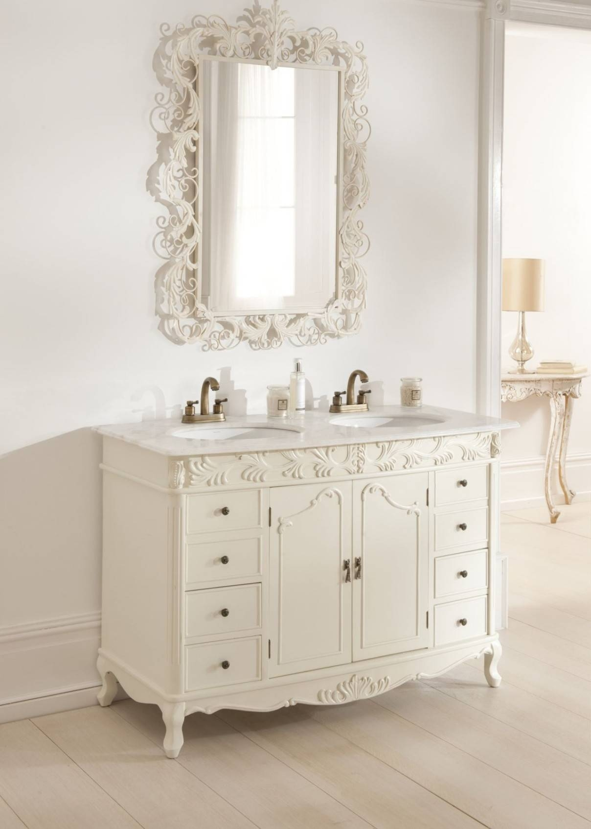 Bathroom Mirrors : Vintage Mirrors For Bathrooms Interior Design Within Vintage Mirrors For Bathrooms (View 14 of 15)