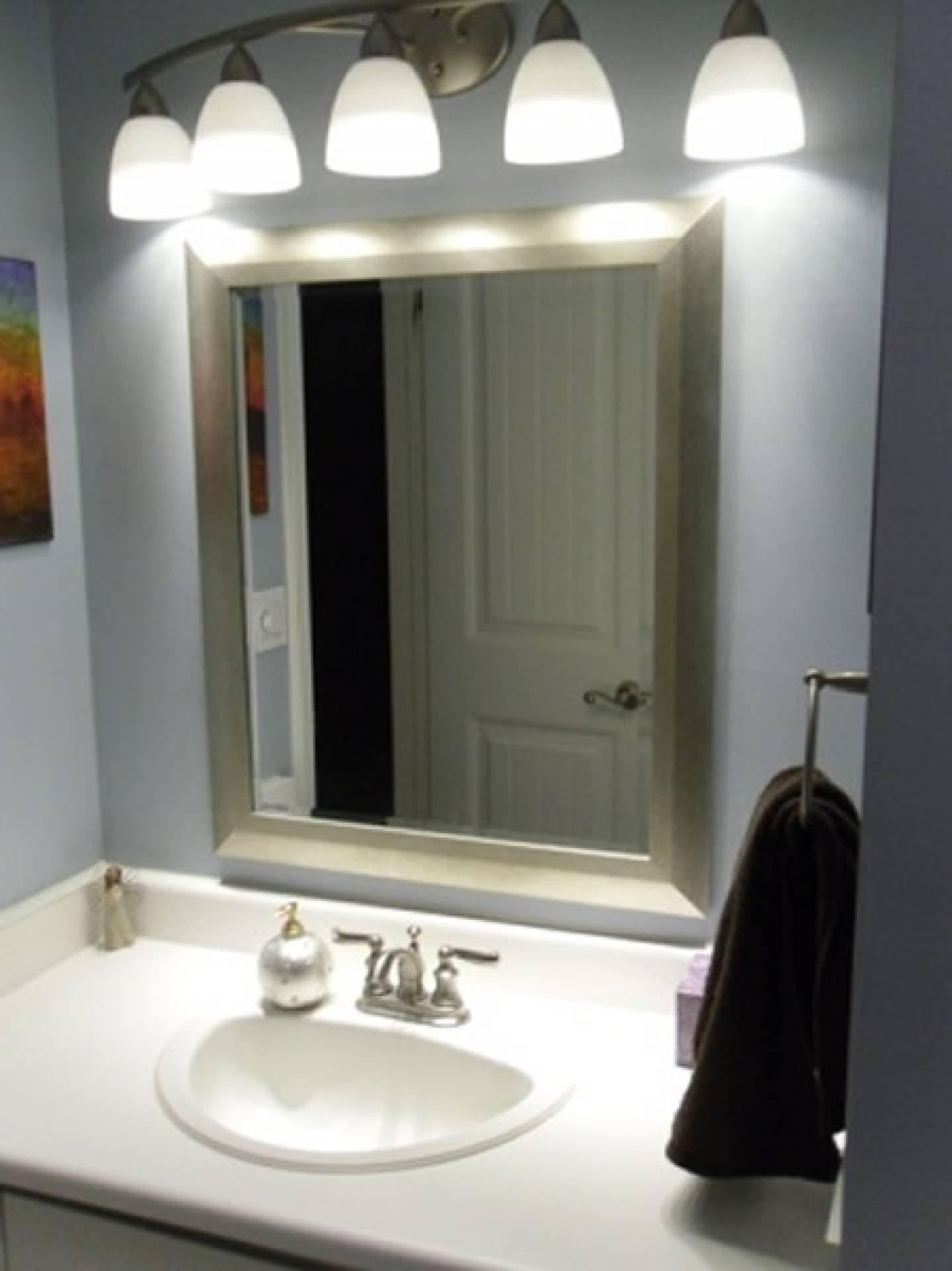 Bathroom: Outstanding Lowes Lighting Bathroom Bathroom Mirrors Pertaining To Ceiling Light Mirrors (View 4 of 15)
