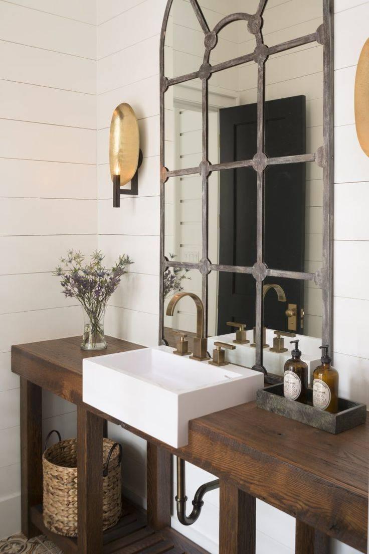 Bathroom : Rustic Bathroom Mirrors 36 regarding French Style Bathroom Mirrors (Image 2 of 15)