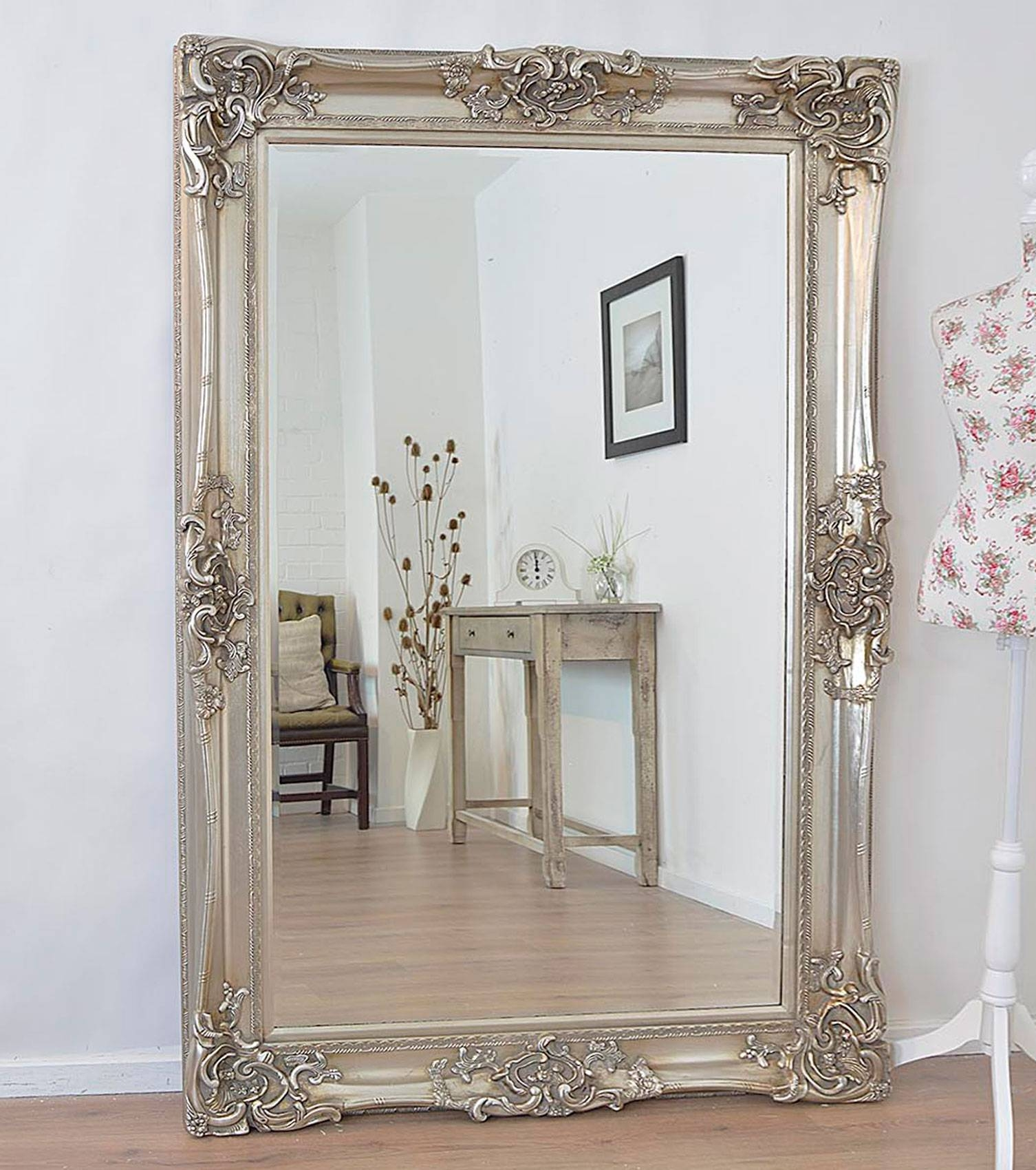 2018 best of large white floor mirrors for Large decorative floor mirrors