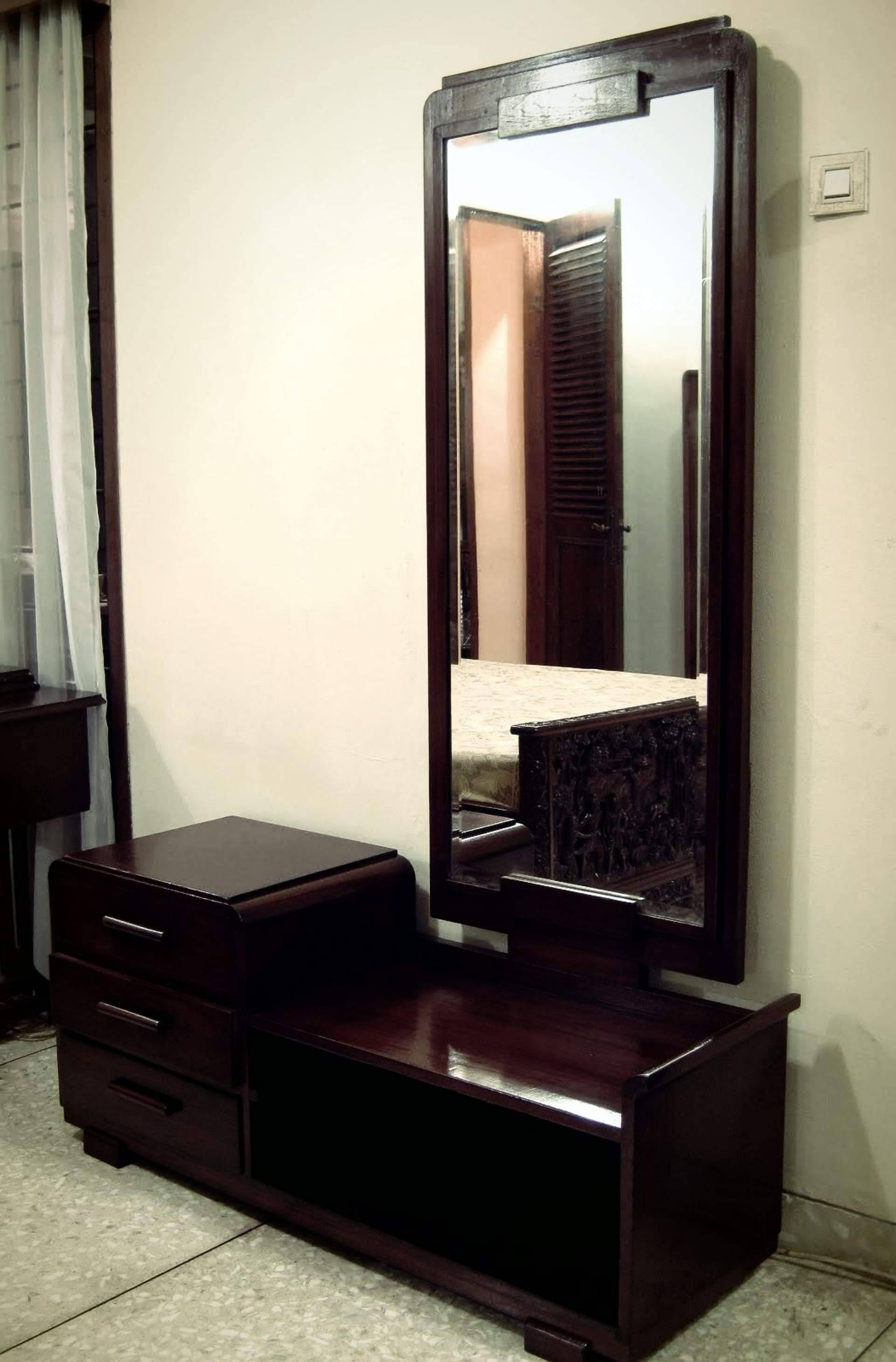 Bedroom : Adorable Big White Mirror Contemporary Wall Mirrors Wall With Long Black Wall Mirrors (View 4 of 15)