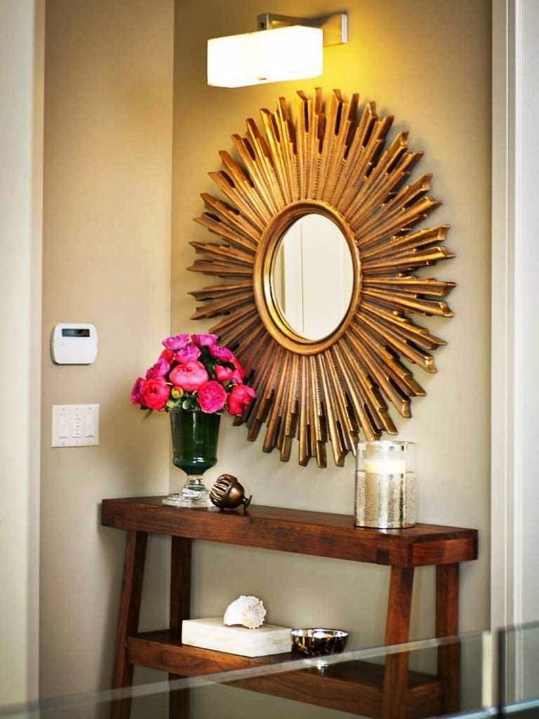 Bedroom: Appealing Oversized Mirrors For Home Decoration Ideas inside Large Round Gold Mirrors (Image 1 of 15)