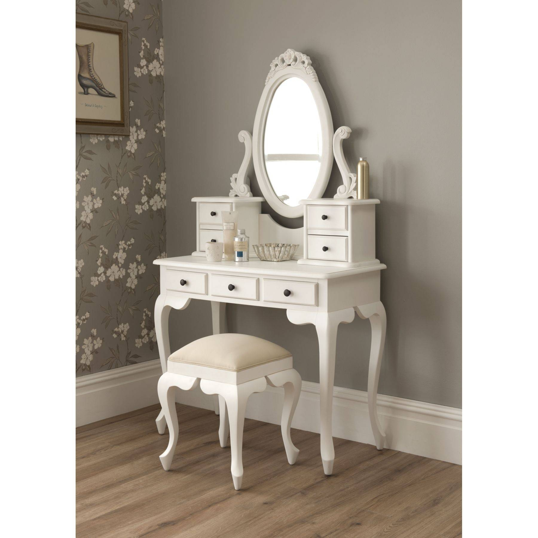 Bedroom : Small Dressing Table With Mirror Makeup Table With With Regard To Mirrors On Stand For Dressing Table (View 7 of 15)