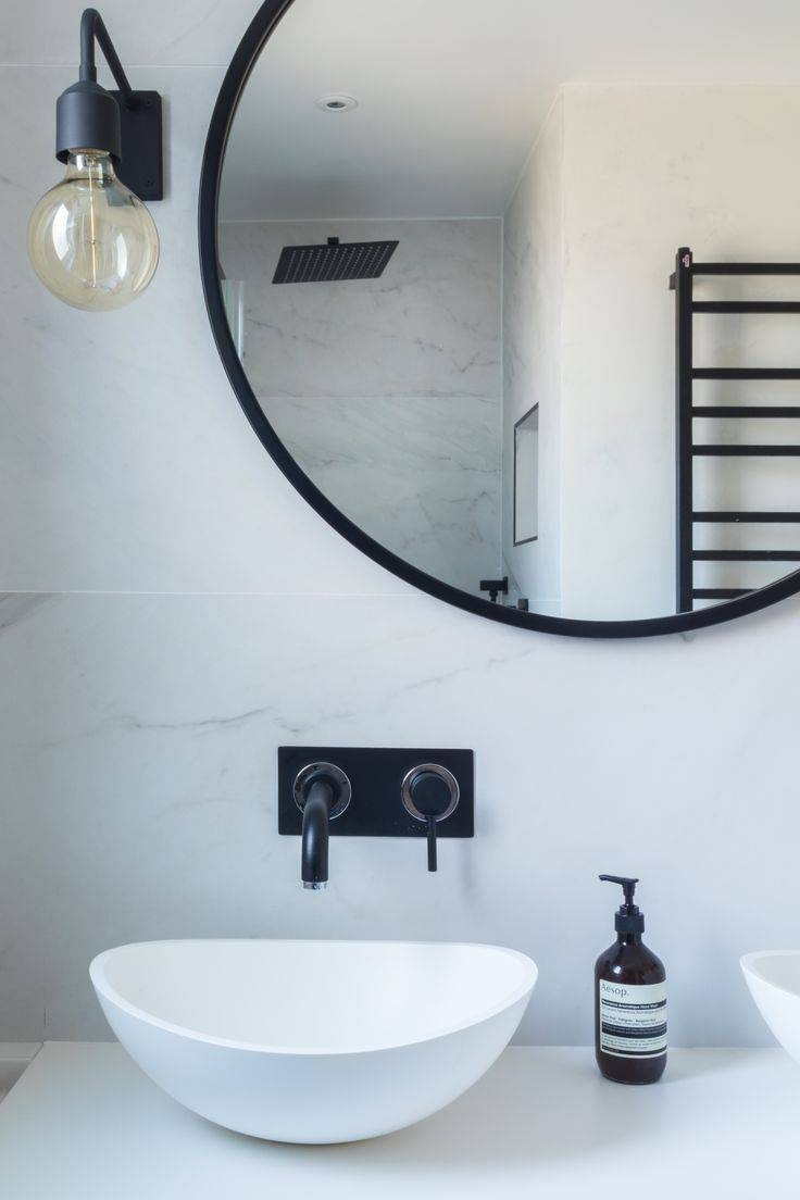 Best 25+ Industrial Bathroom Mirrors Ideas On Pinterest With Regard To Blue Round Mirrors (View 13 of 15)
