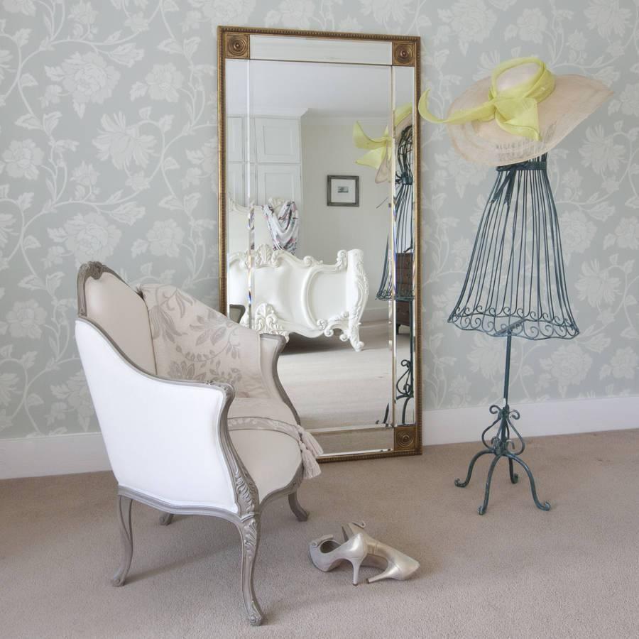 Bevelled Gold Full Length Mirrordecorative Mirrors Online in Full Length Gold Mirrors (Image 2 of 15)
