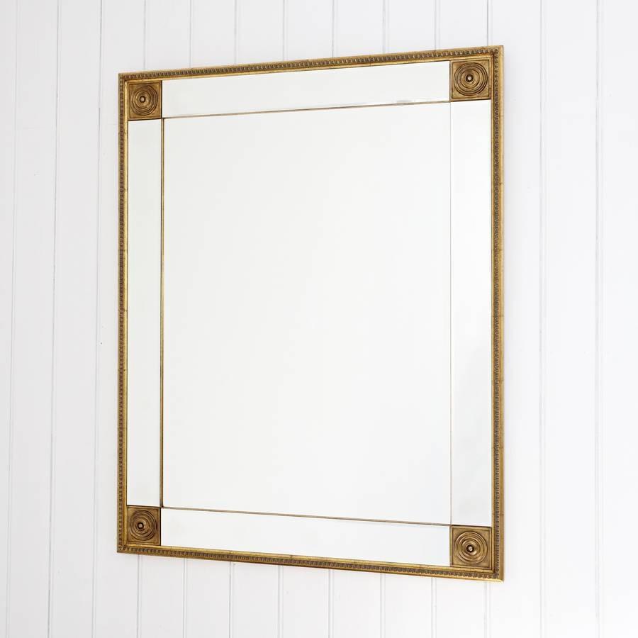 Bevelled Gold Full Length Mirrordecorative Mirrors Online with Full Length Gold Mirrors (Image 3 of 15)