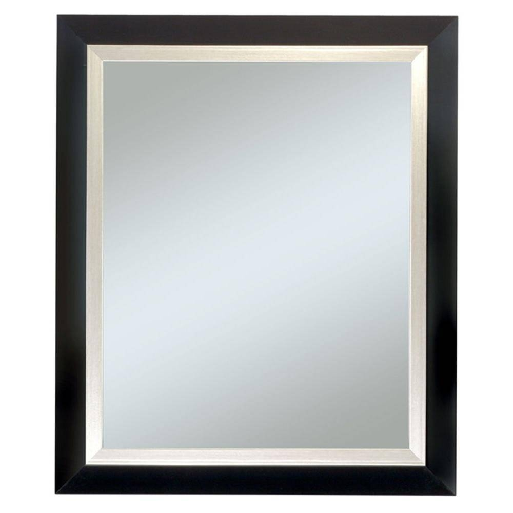 Black - Mirrors - Wall Decor - The Home Depot within Long Black Wall Mirrors (Image 5 of 15)