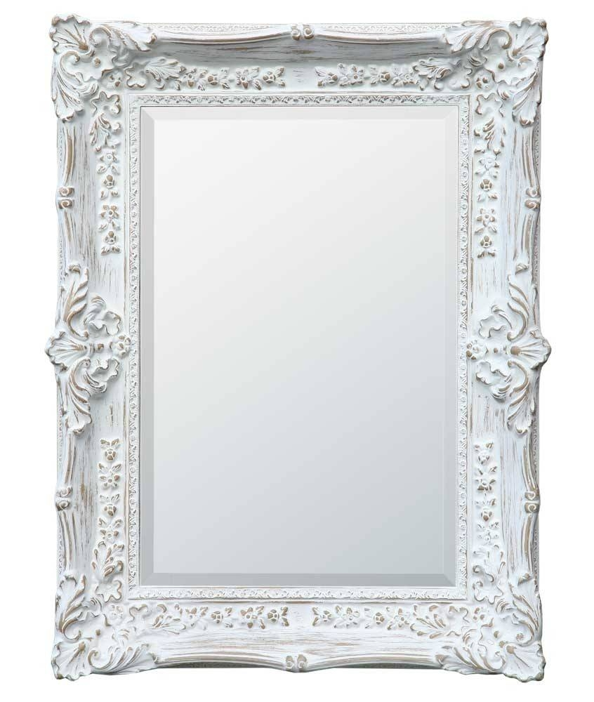 Boudoir Provence Antique White Mirror – Chic Seasons For Large White Antique Mirrors (View 1 of 15)