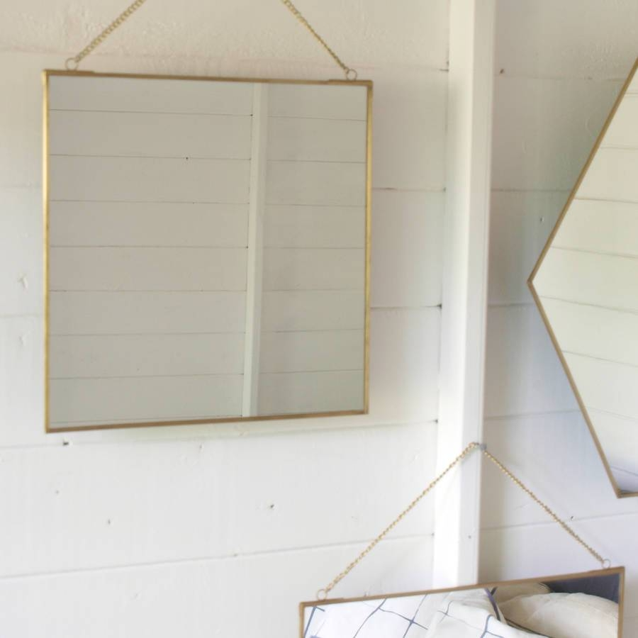 Brass Mirror Assorted Shapesidyll Home | Notonthehighstreet pertaining to Brass Mirrors (Image 5 of 15)