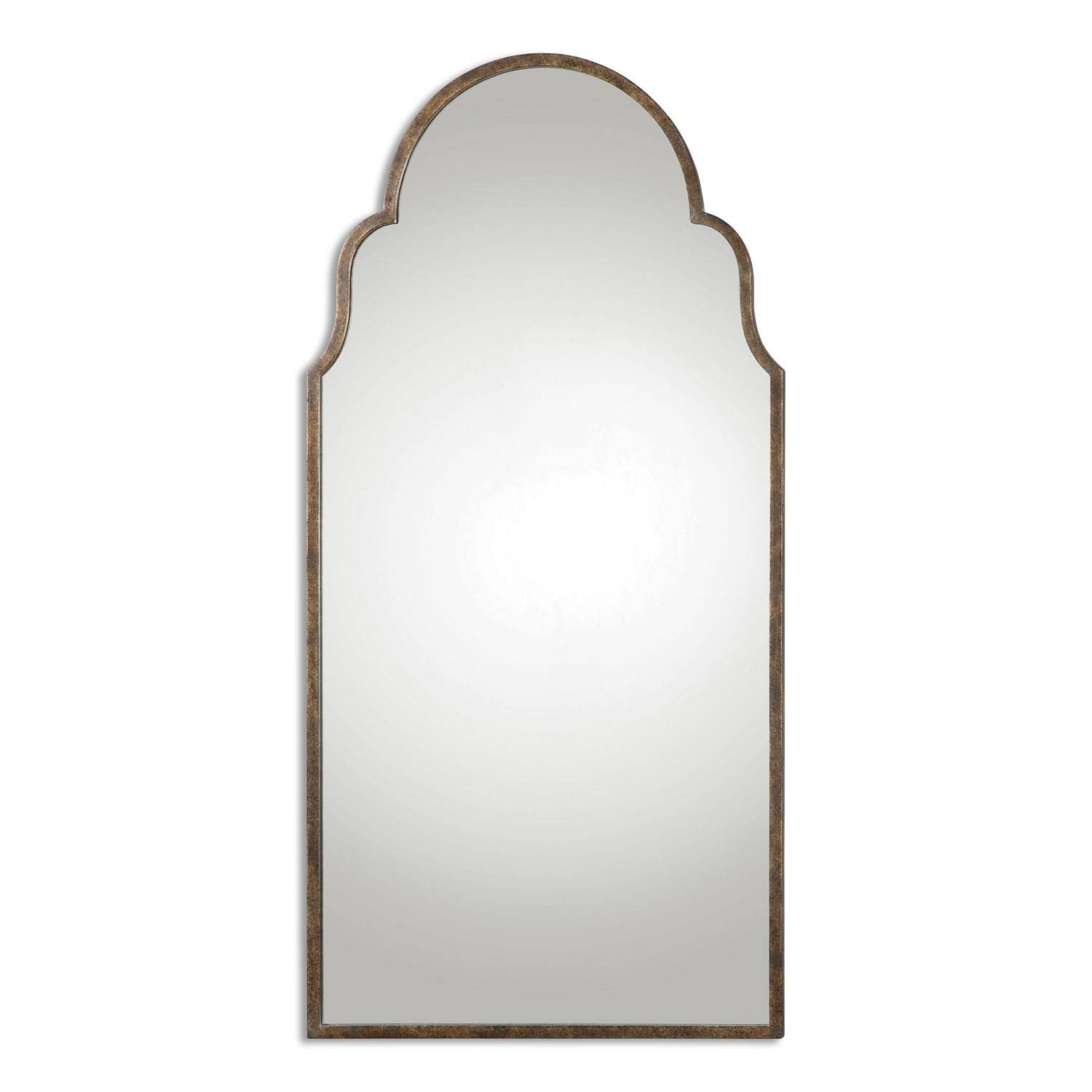 Brayden Rust Bronze Arch Mirror Uttermost Wall Mirror Mirrors Home Within Curved Top Mirrors (View 2 of 15)