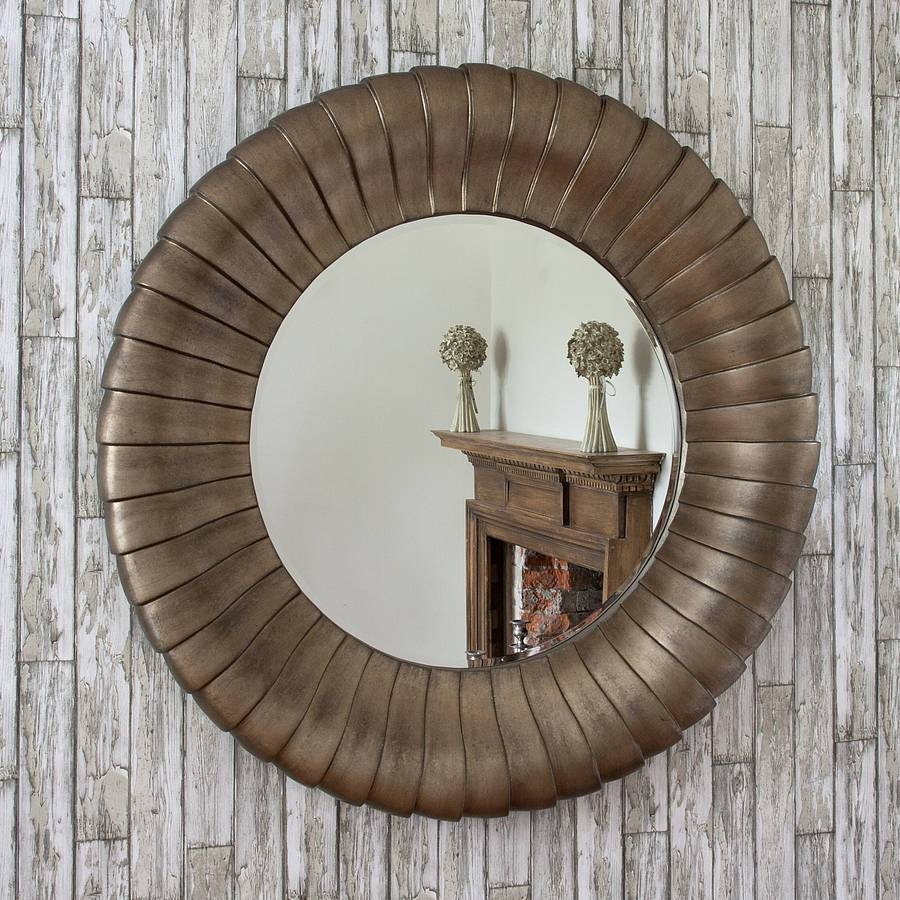 Bronze Round Mirror | Inovodecor for Decorative Round Mirrors (Image 5 of 15)