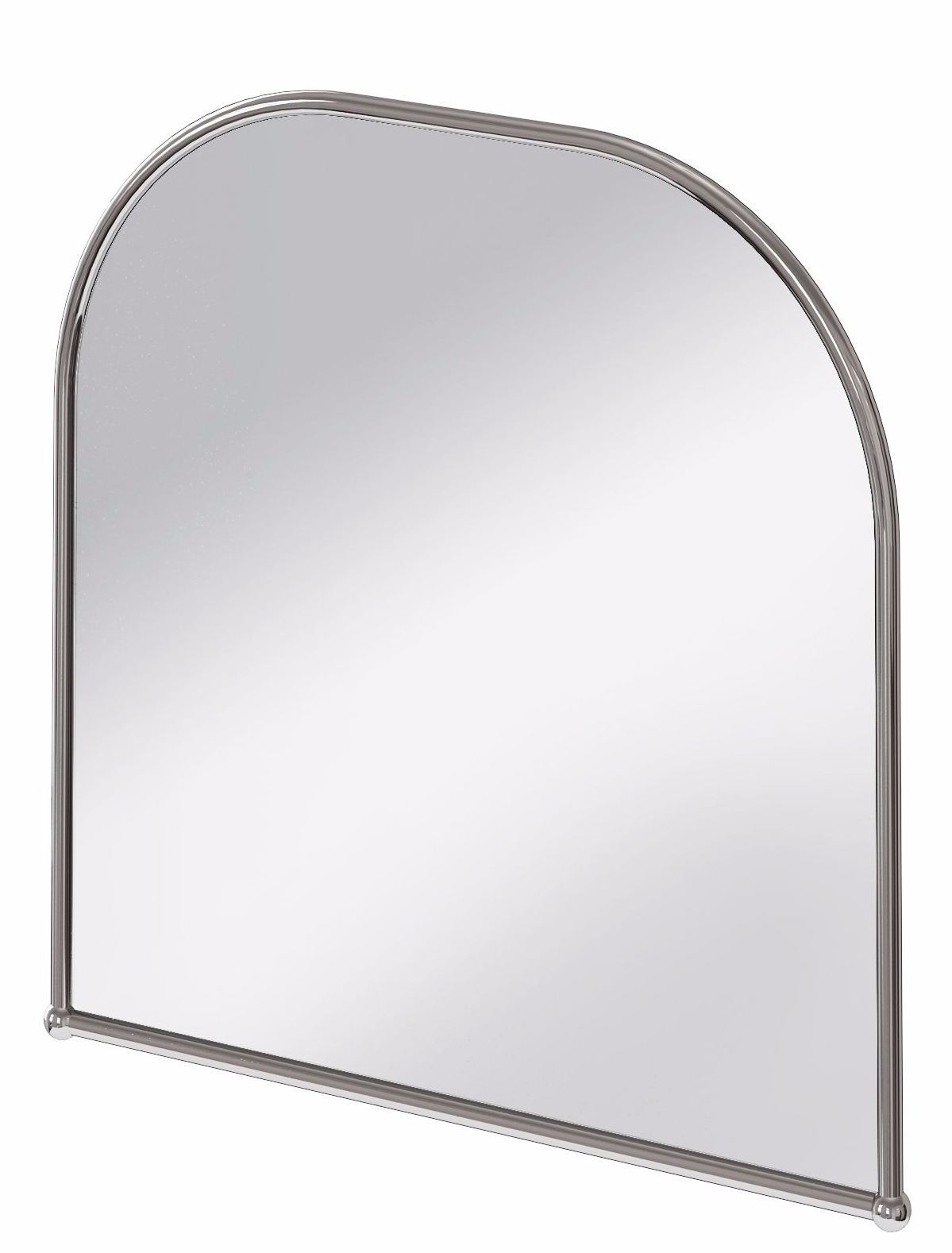 Burlington Curved Top Polished Stainless Steel Framed Traditional throughout Curved Top Mirrors (Image 5 of 15)