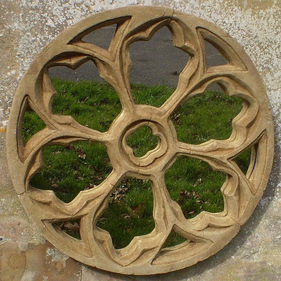 Buy Gothic Traceried Round Garden Mirror — The Worm That Turned Pertaining To Gothic Garden Mirrors (View 4 of 15)