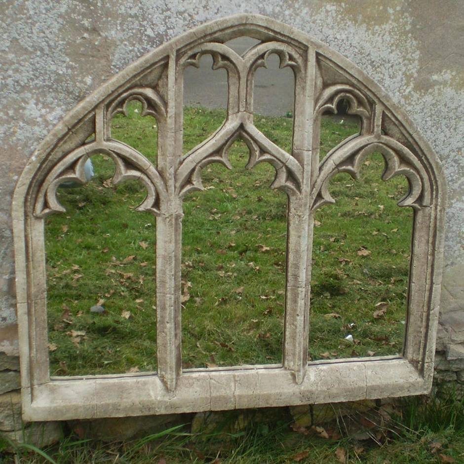 Buy Gothic Triple Arch Over Mantle Garden Mirror — The Worm That within Gothic Garden Mirrors (Image 5 of 15)