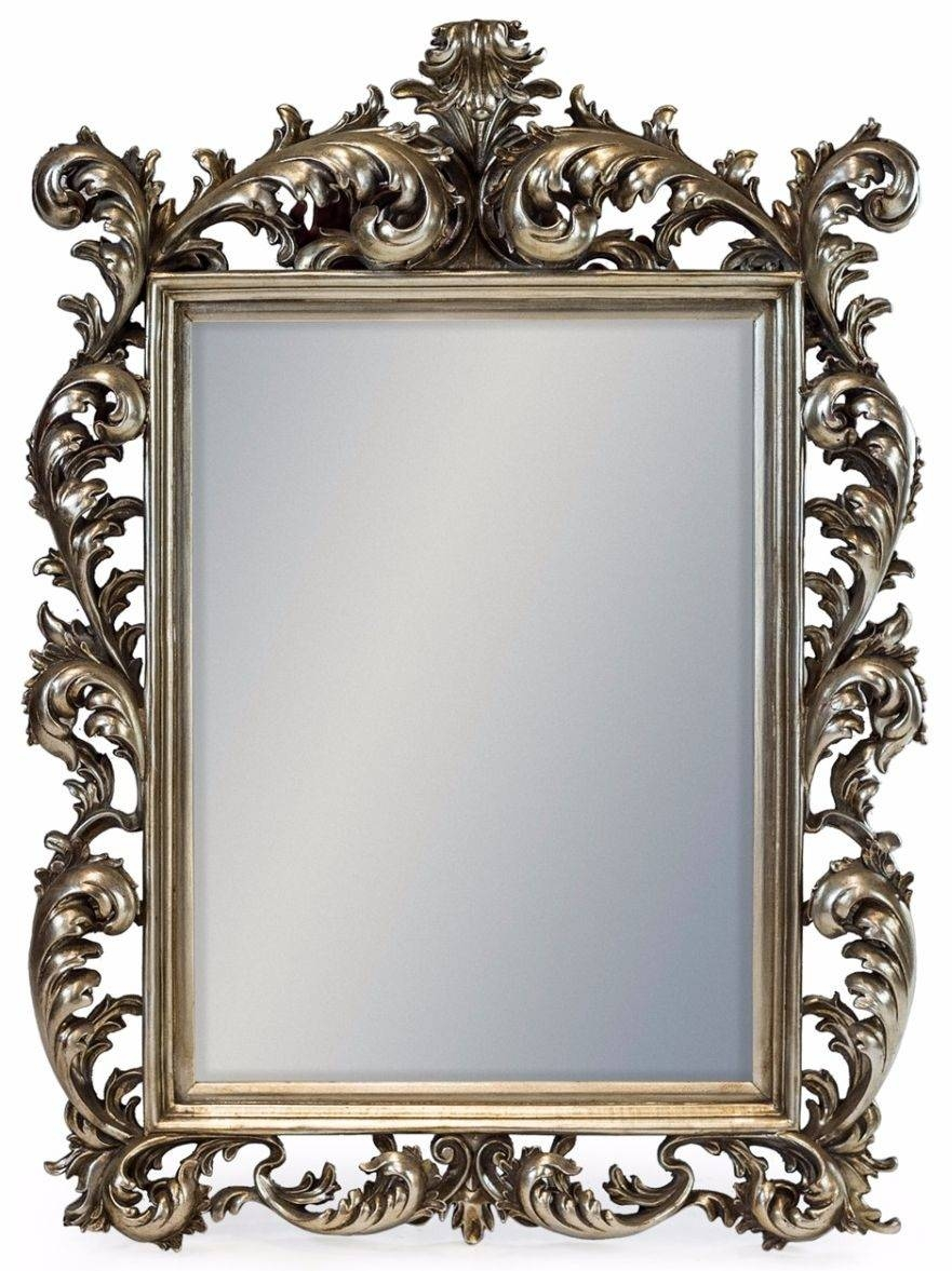 Buy Silver Square Large Rococo Mirror Online - Cfs Uk intended for Large Rococo Mirrors (Image 1 of 15)