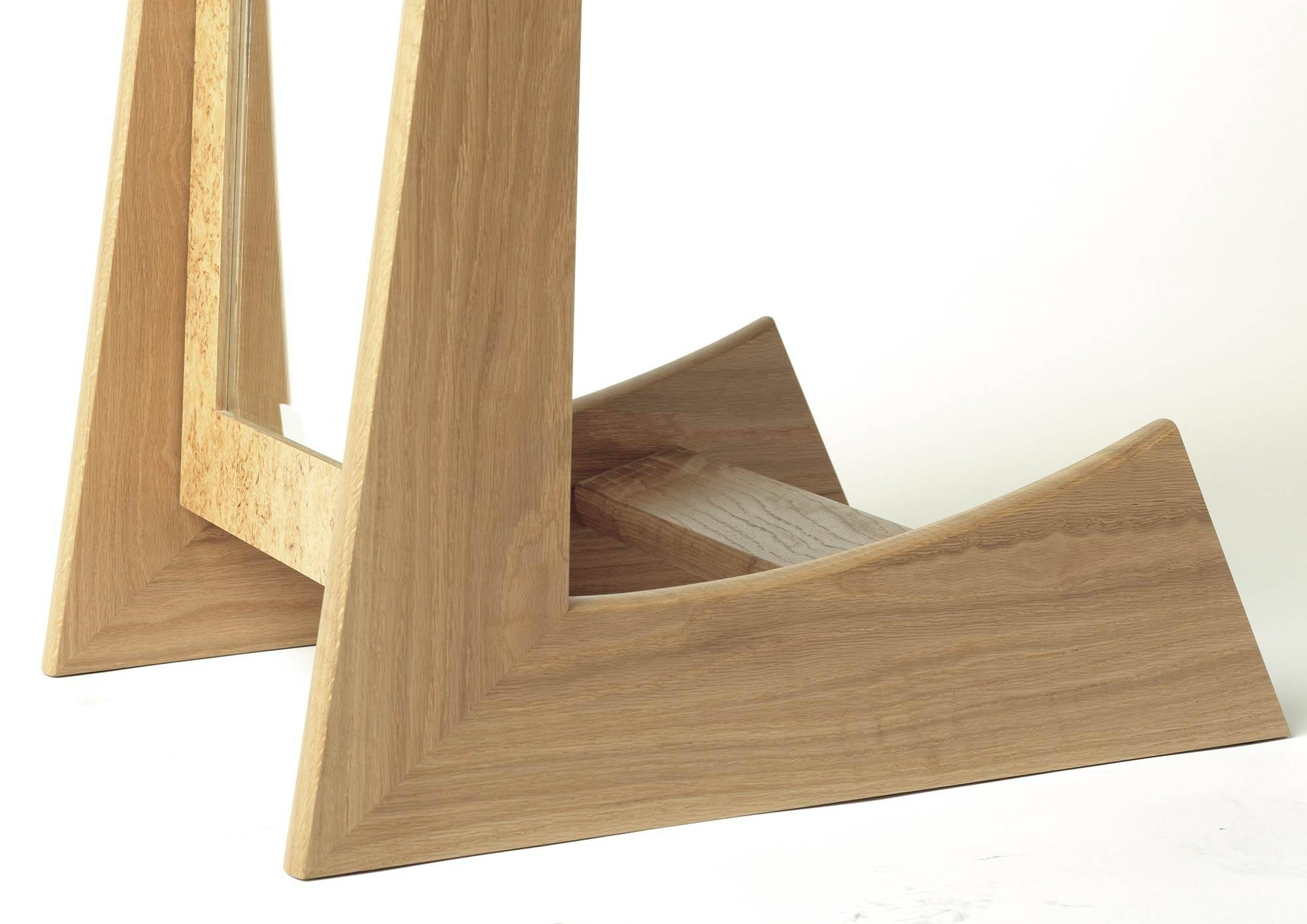 Cheval Mirror In Oak And Masur Birch | Makers' Eye for Free Standing Oak Mirrors (Image 1 of 15)
