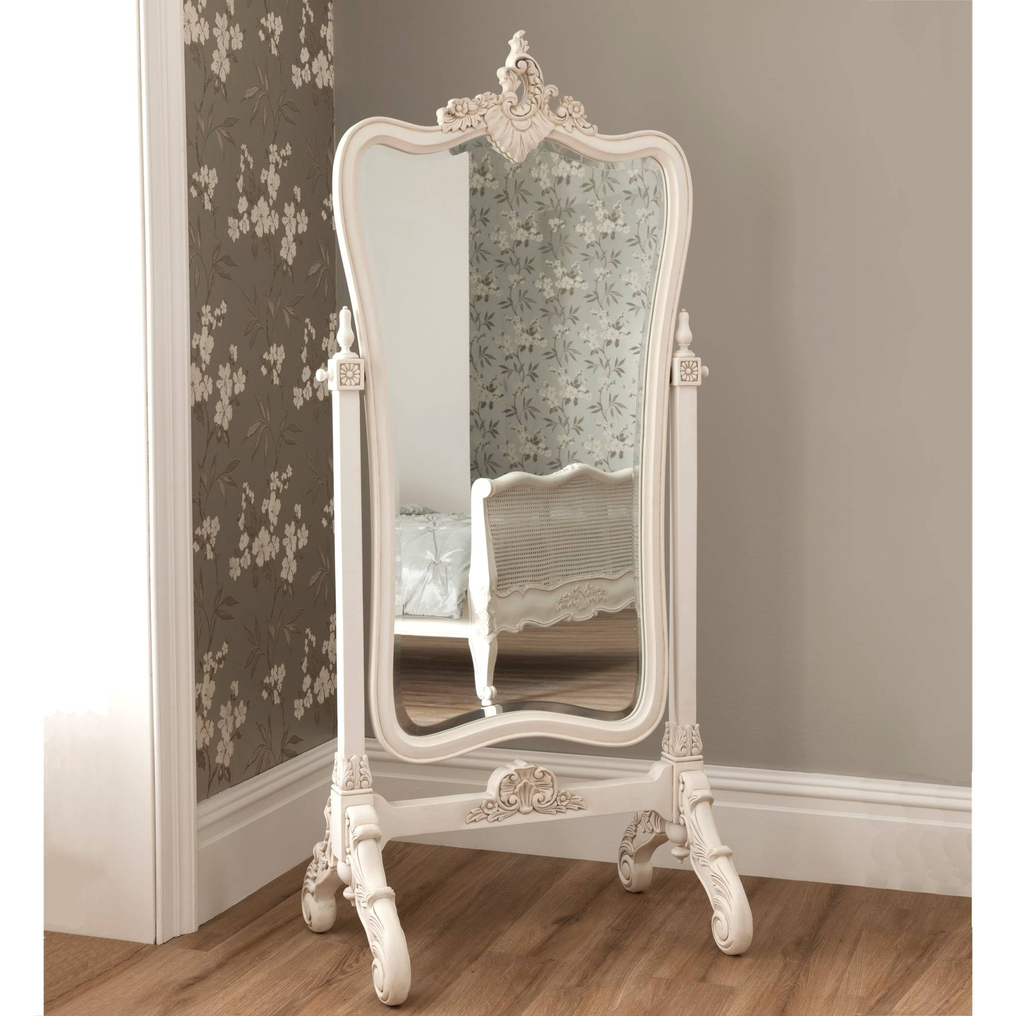 Cheval Mirrors | French Style Mirrors | Shabby Chic intended for French White Mirrors (Image 3 of 15)