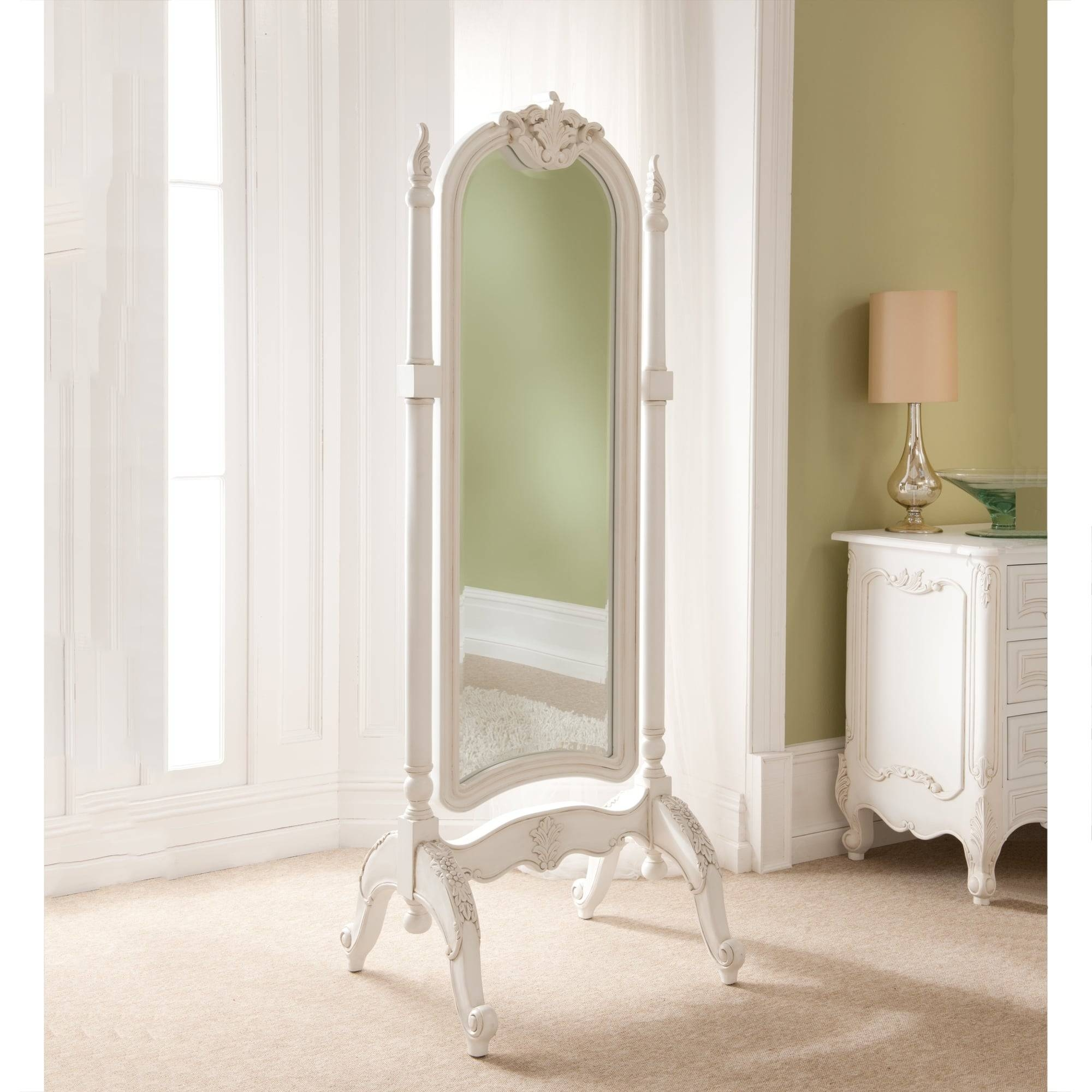 Cheval Mirrors | French Style Mirrors | Shabby Chic Within Large White Rococo Mirrors (View 2 of 15)