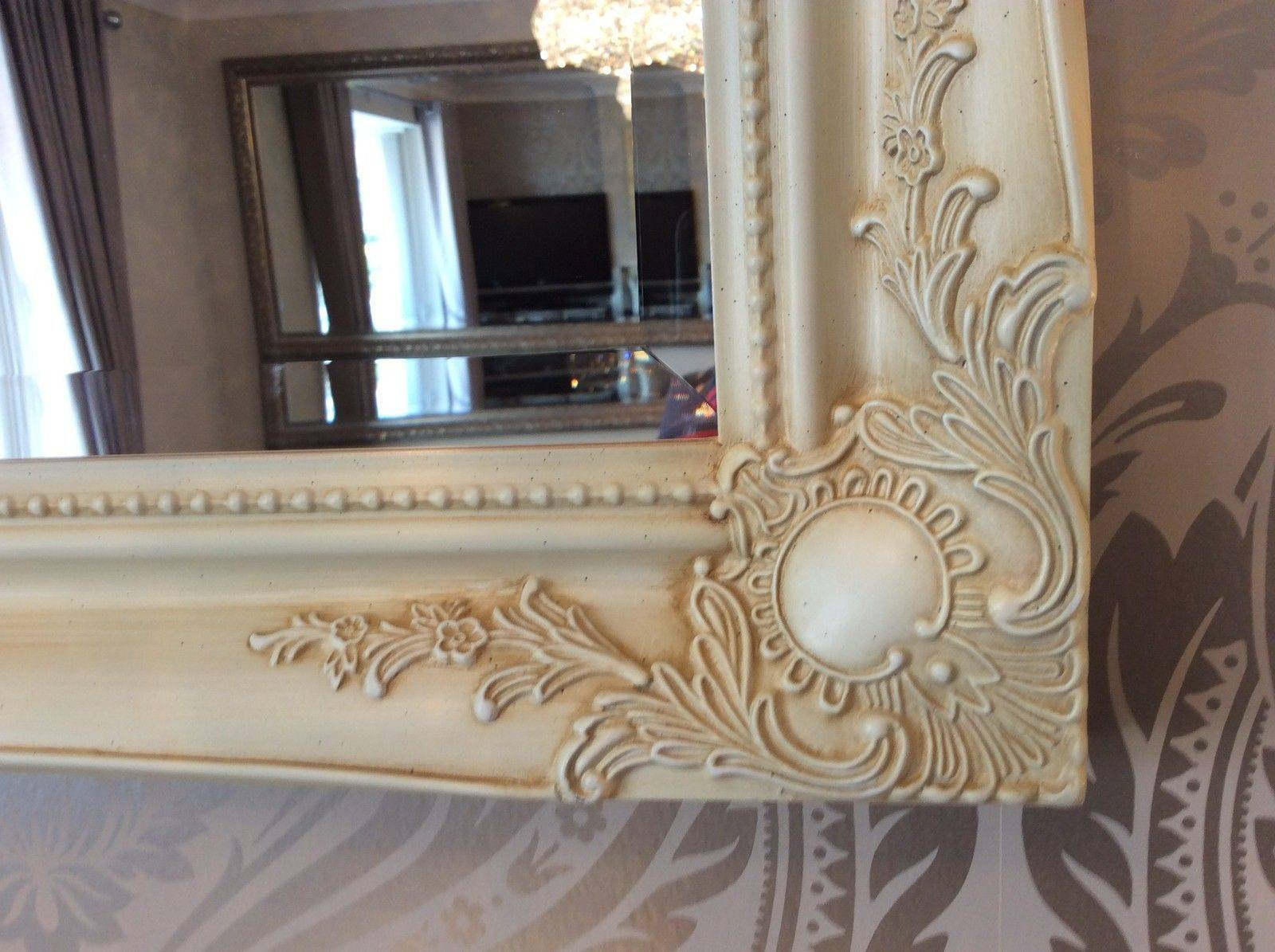 Chic Decorative Wall Mirror – Choose Your Size And Colour – Free P&p Within Cream Shabby Chic Mirrors (View 2 of 15)