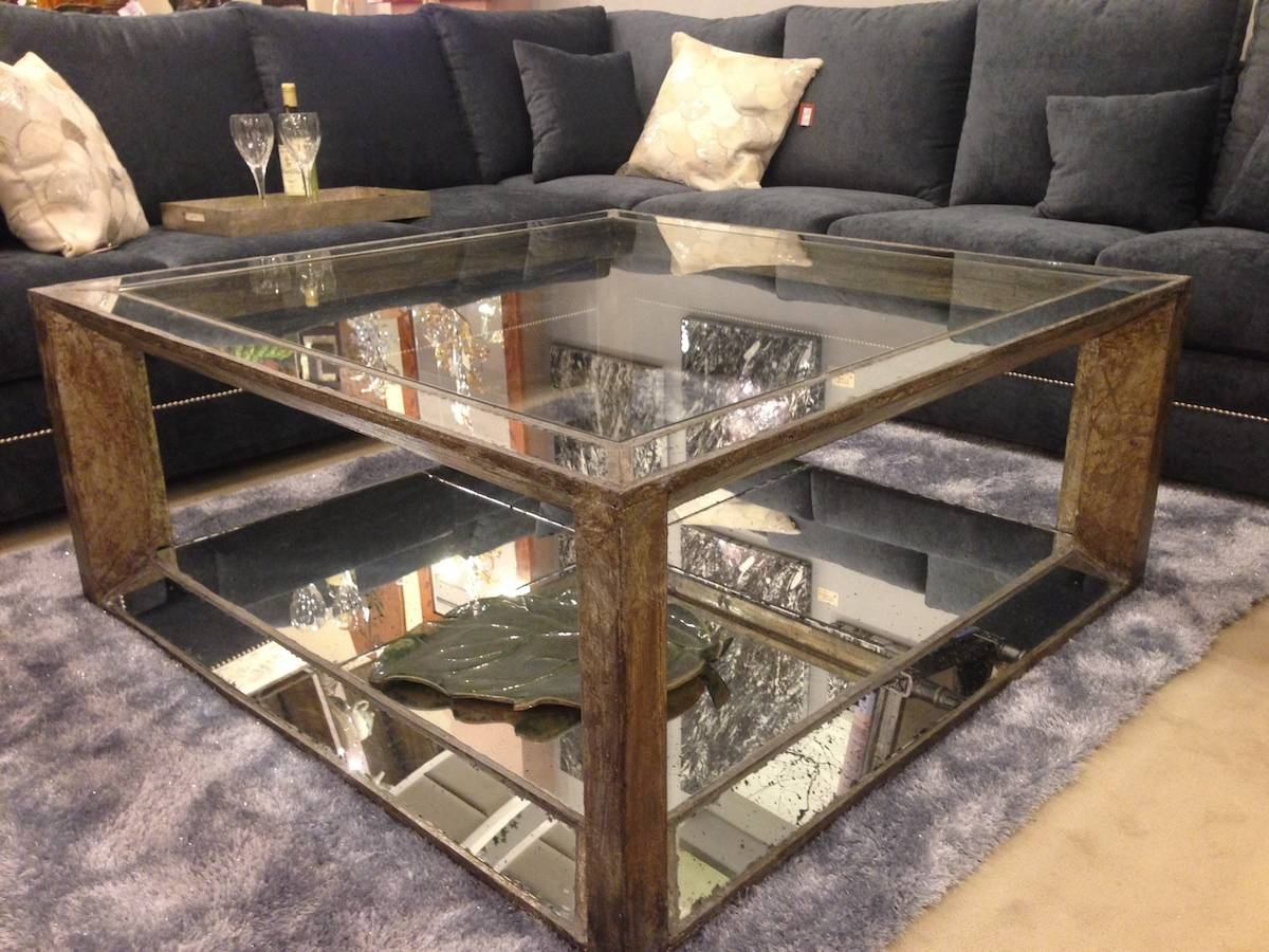 Coffee Table, Mirror Top Coffee Table Mirrored Coffee Table Tray in Occasional Tables Mirrors (Image 5 of 15)
