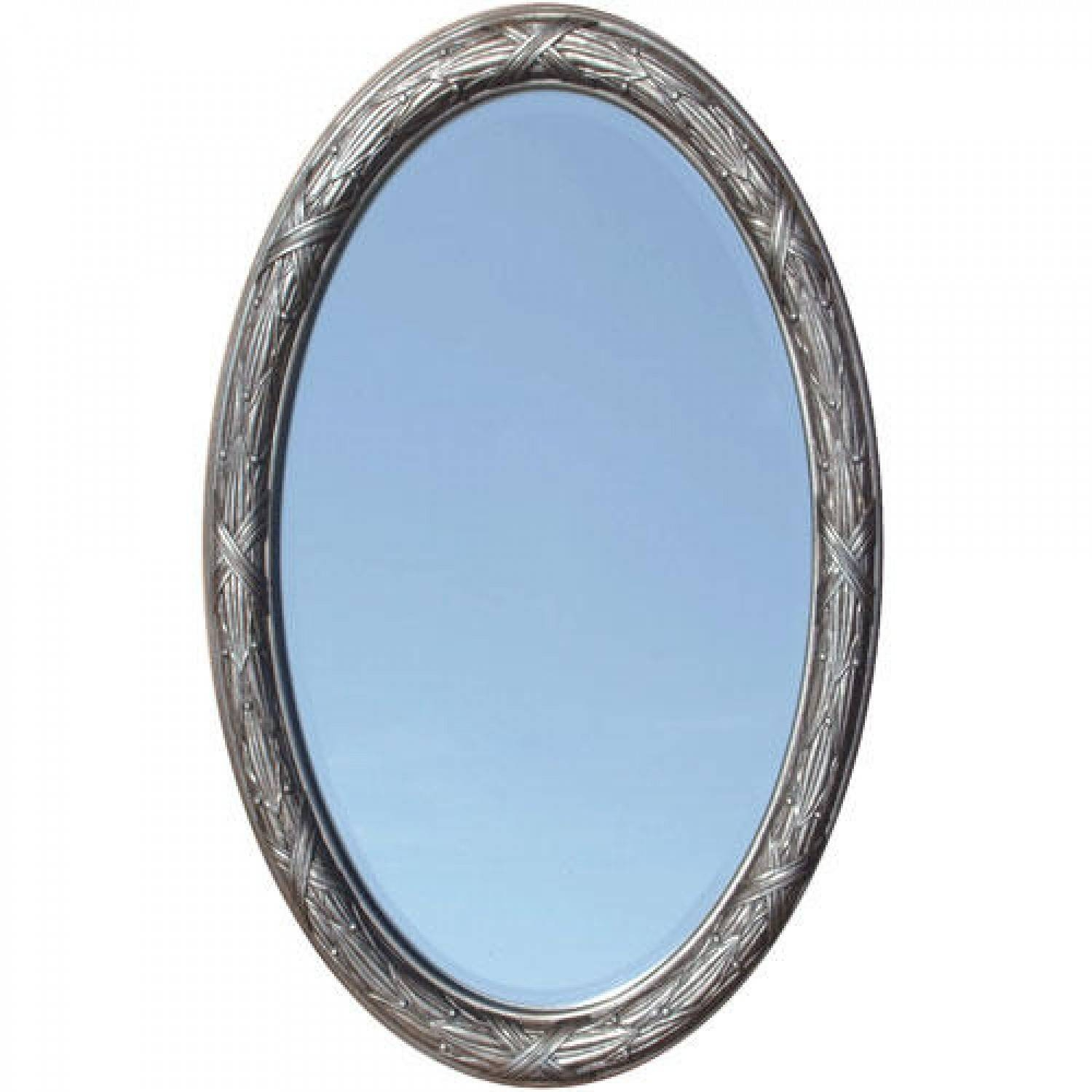 Corinthian Decorative Beveled Oval Mirror - Venetian Bronze - Bathroom intended for Bevelled Oval Mirrors (Image 2 of 15)