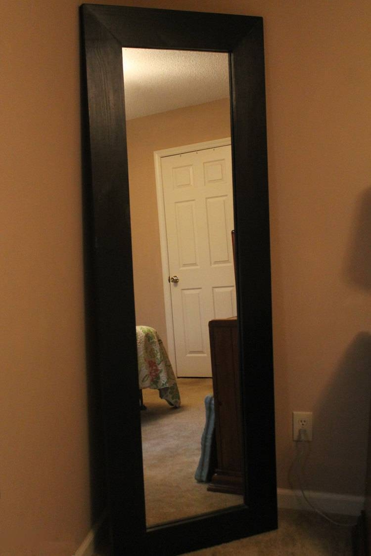 Decor: Leaning Floor Mirror For Interior Accessories Design Ideas Pertaining To Black Floor Standing Mirrors (View 3 of 15)