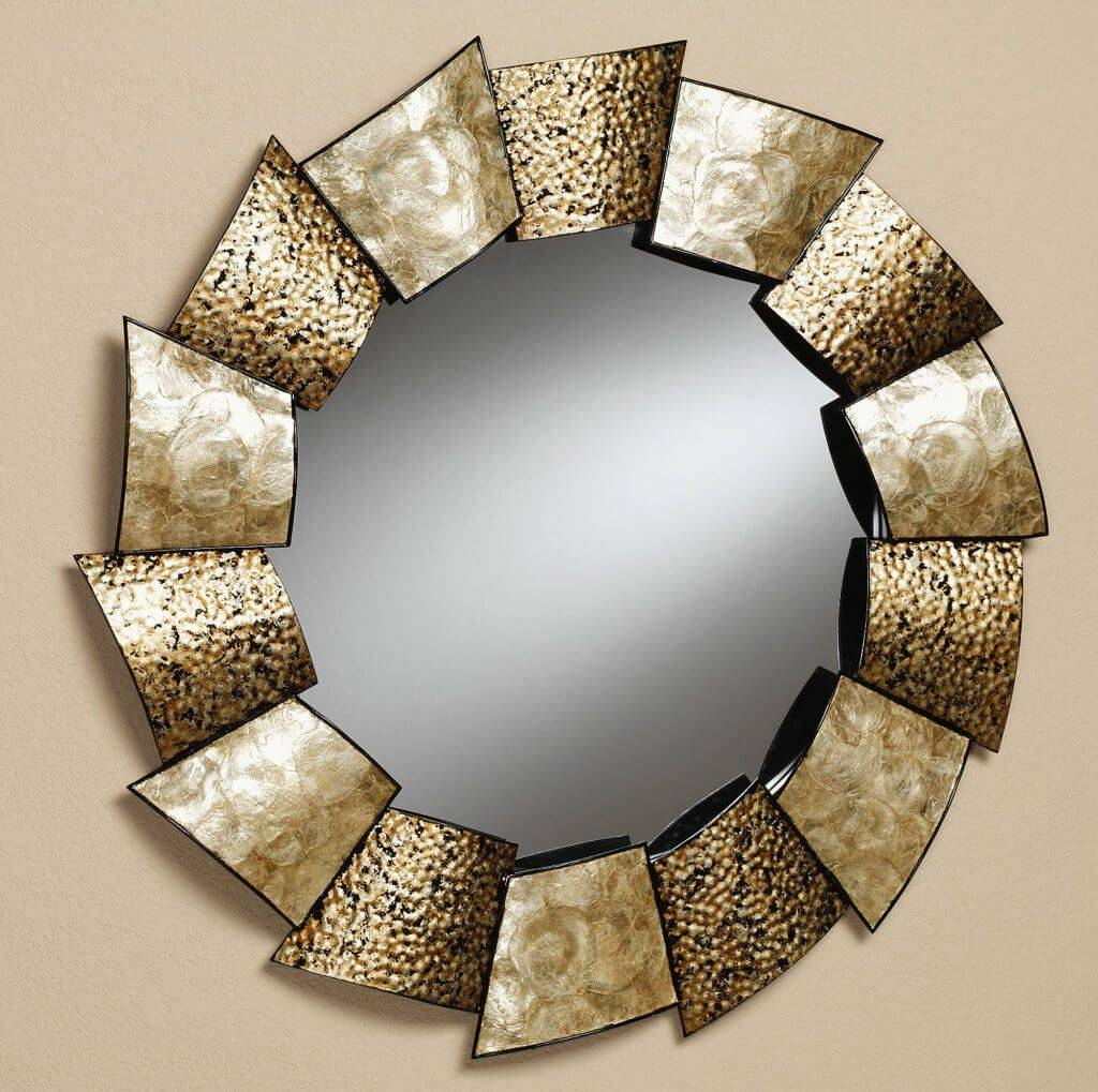 Decorating: Fabulous Round Mirror Wall Decor Featuring Unique for Decorative Round Mirrors (Image 6 of 15)