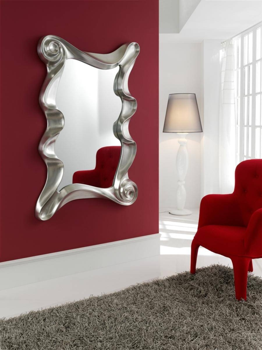 Designer Wall Mirrors Contemporary Wall Mirrors Decorative Large With Regard To Modern Contemporary Wall Mirrors (View 13 of 15)