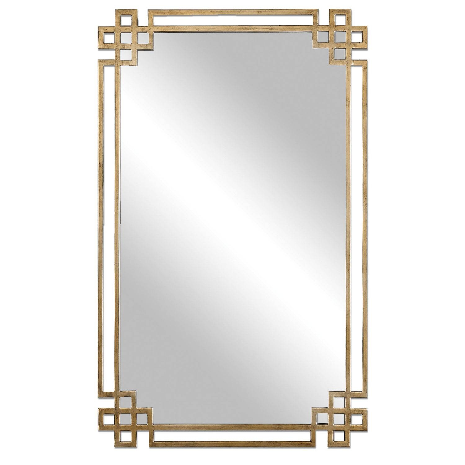 Devoll Antique Gold Mirror Uttermost Wall Mirror Mirrors Home Decor Within Gold Wall Mirrors (View 4 of 15)