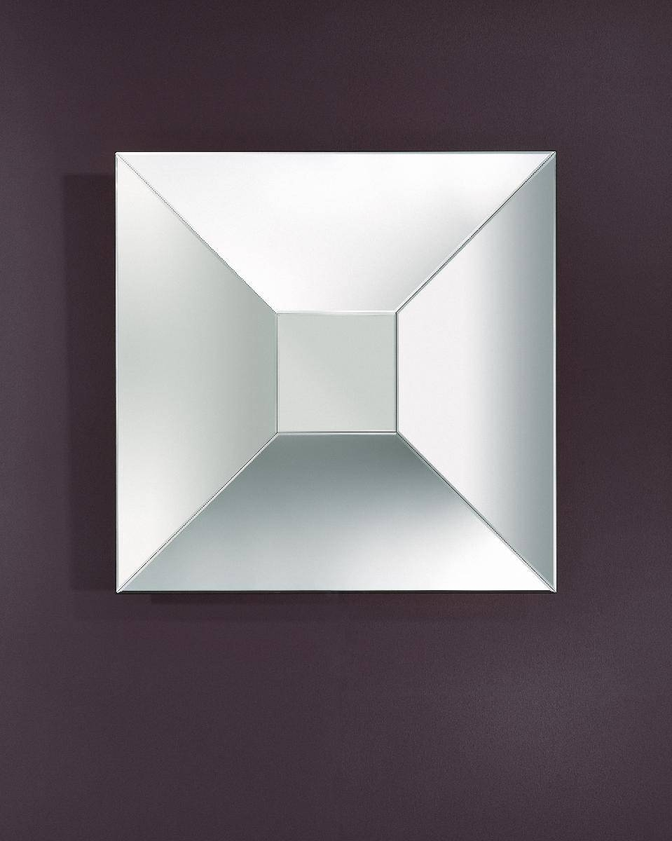 Disco Square Large Angled Frameless Mirror – Deknudt Mirrors With Regard To Square Bevelled Mirrors (View 8 of 15)