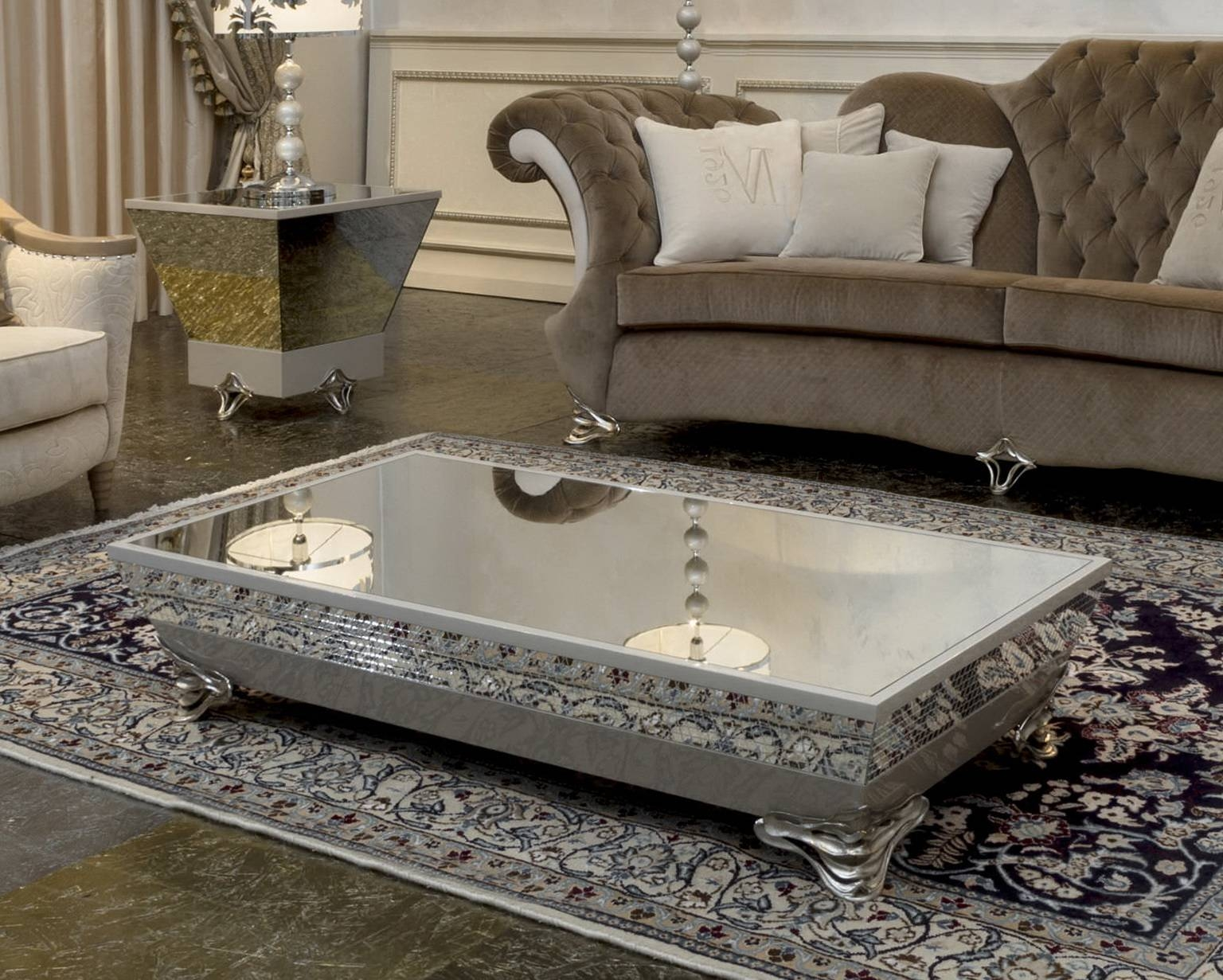 Diy Mirror Coffee Table – Waffle House throughout Occasional Tables Mirrors (Image 10 of 15)