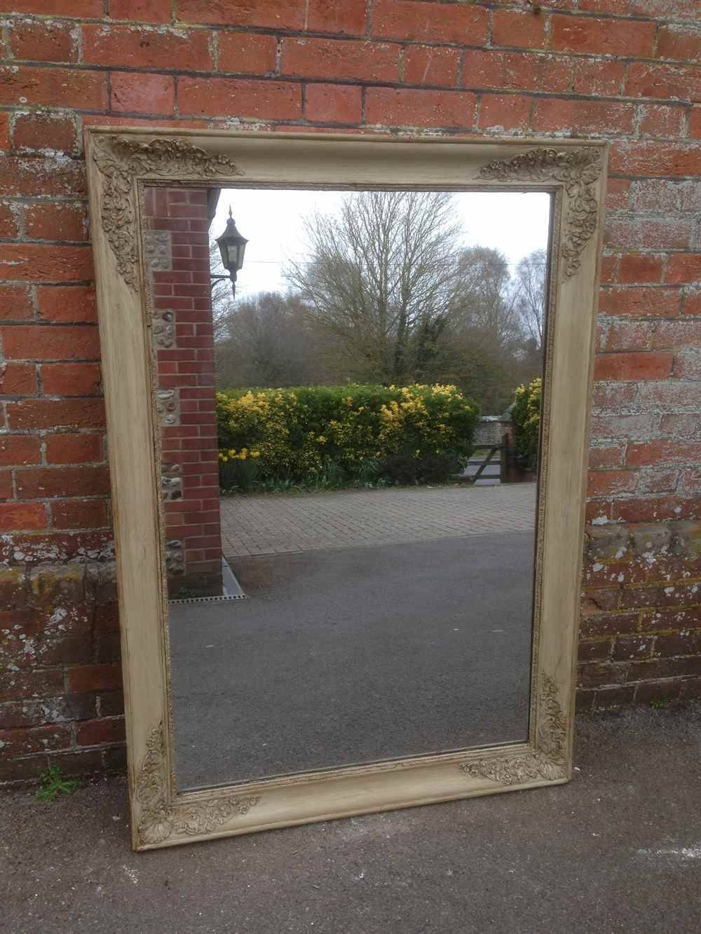 Early Antique Painted French Original Louis Philippe Wall Mirror Pertaining To Landscape Wall Mirrors (View 10 of 15)