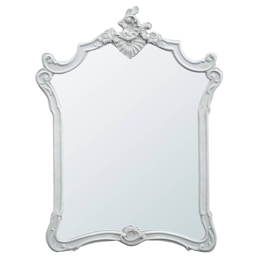 Elise French Rococo Antique White Decorative Wall Bedroom Mirror pertaining to Black Rococo Mirrors (Image 4 of 15)