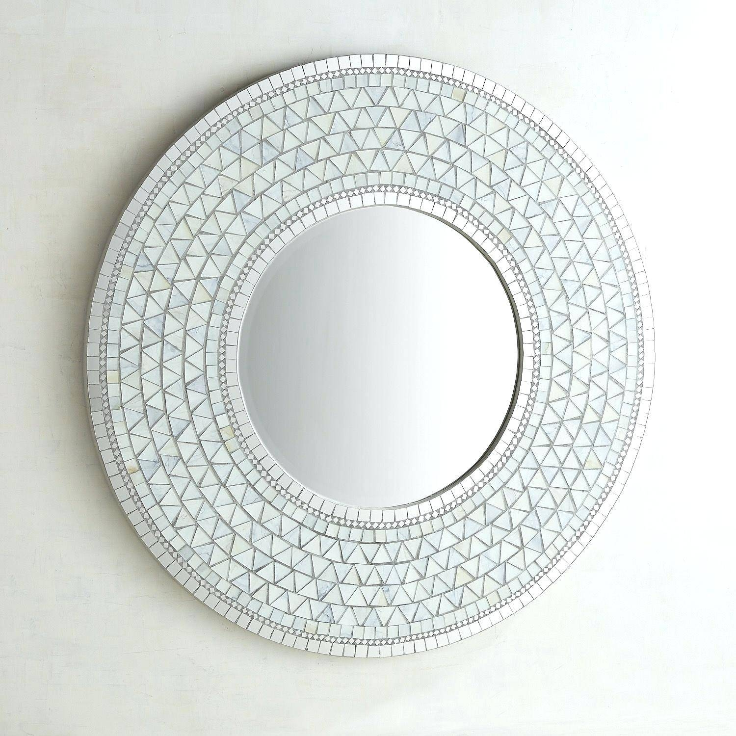 Eternal Gold Mosaic Round Wall Mirrormirror Envy Shine Mirrors Throughout Round Mosaic Mirrors (View 10 of 15)