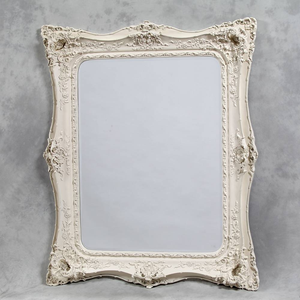 Extra Large Cream/antique White Classic Mirror – The House In Town Within Large Cream Mirrors (View 11 of 15)