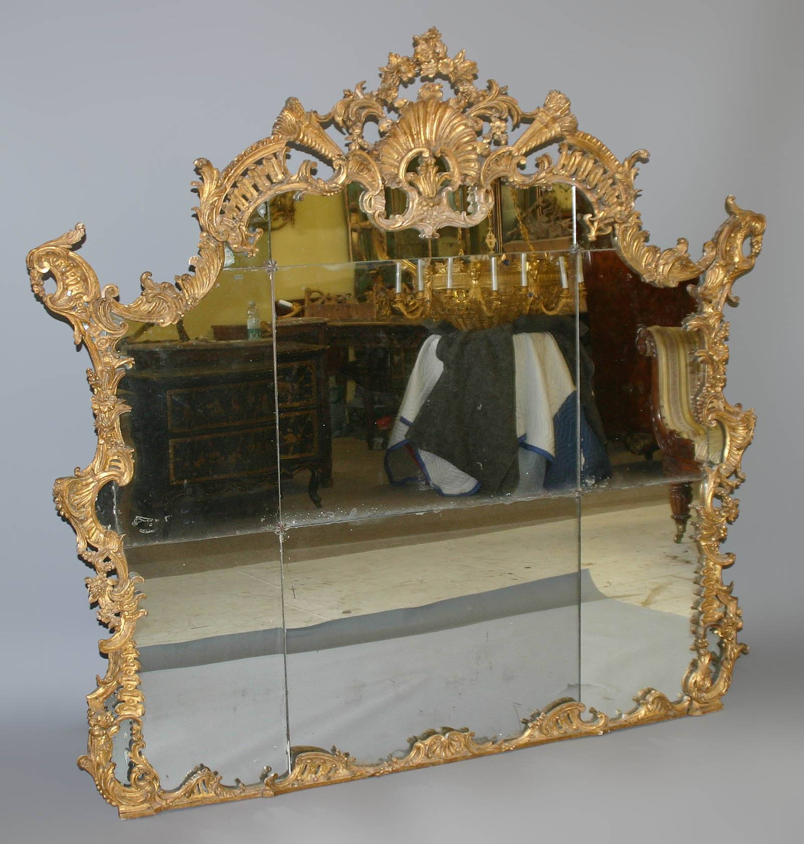 Fine, Northern Italian, Rococo Period Overmantel Mirror Of Large pertaining to Large Rococo Mirrors (Image 2 of 15)