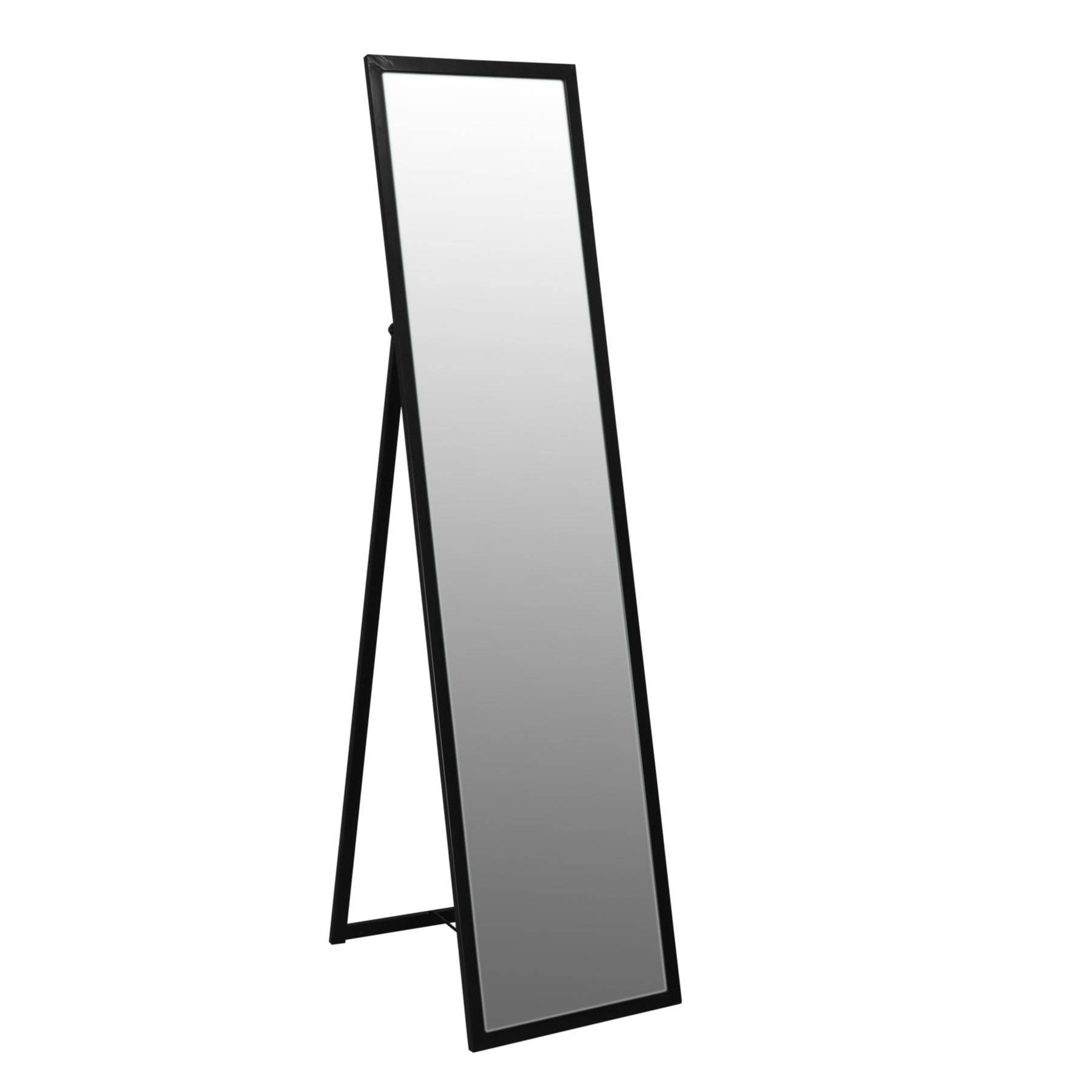 Free Standing Full Length Tilting Dressing Floor Bedroom Mirror in Black Free Standing Mirrors (Image 5 of 15)