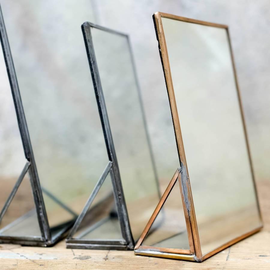 Freestanding Kiko Brass Mirrornkuku | Heavenlyhomesandgardens pertaining to Standing Table Mirrors (Image 5 of 15)